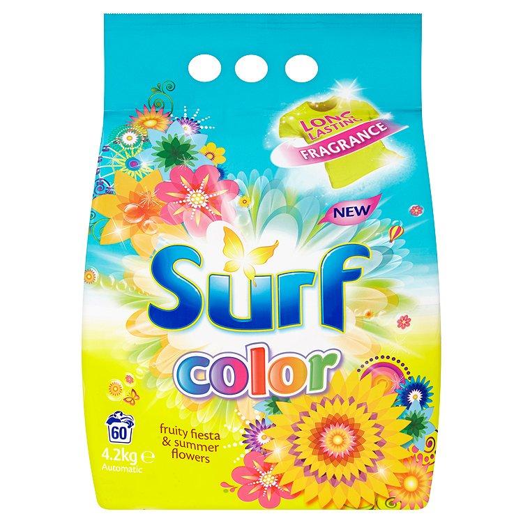 Surf Color Fruity Fiesta & Summer Flowers prací prášek, 60 praní 4200 g