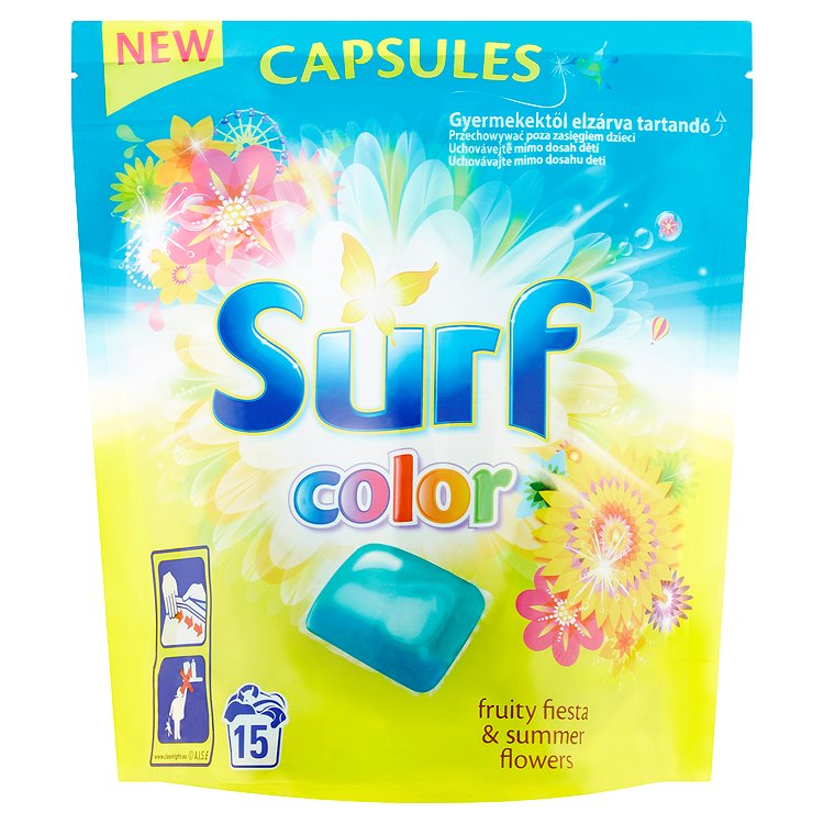 Surf Color Fruity Fiesta & Summer Flowers kapsle 15 ks