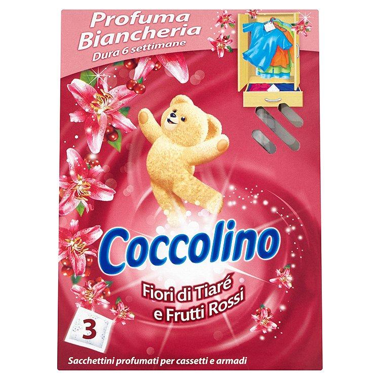 Coccolino Vůně květin Tiaré a červeného ovoce vonné sáčky do šatníku 3 ks