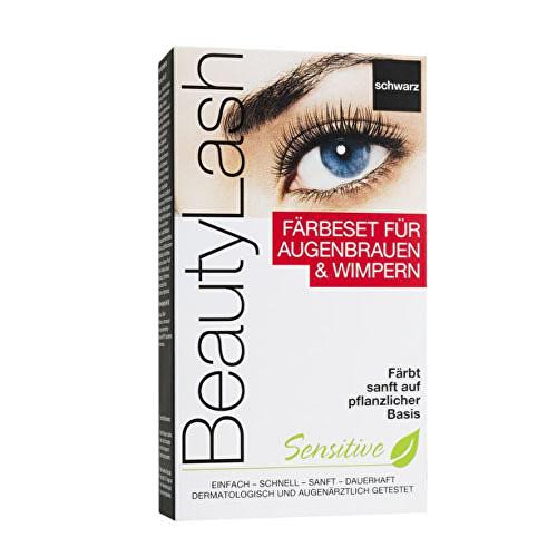 BeautyLash Sensitive Set barva na řasy a obočí Středně hnědá