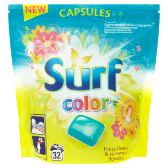 Surf Color Fruity Fiesta & Summer Flowers kapsle, 32 praní 841 g