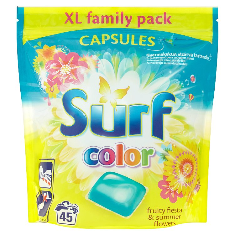 Surf Color Fruity Fiesta & Summer Flowers kapsle, 45 praní 1183 g