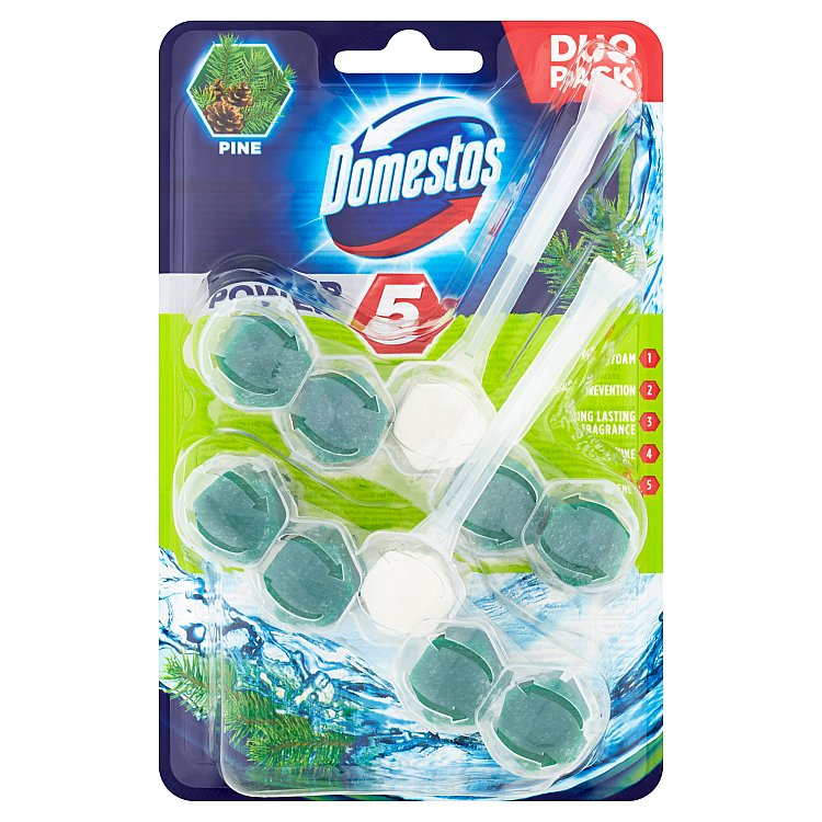 Domestos Power 5 borovice 2x 55 g