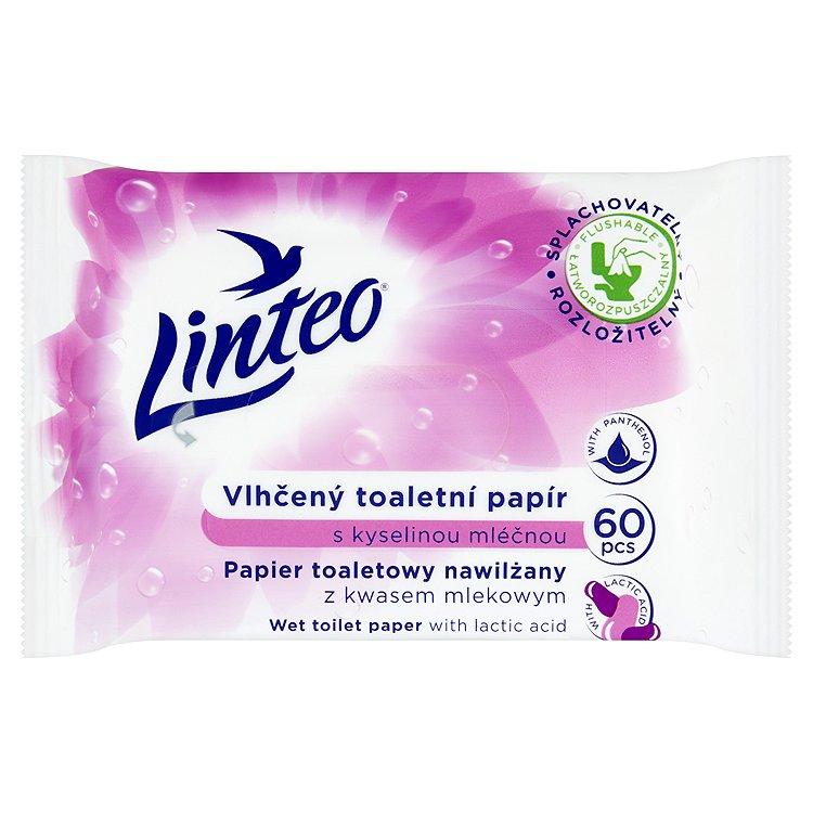 Fotografie Toaletní papír LINTEO vlhčený 60ks kyselina mléčná