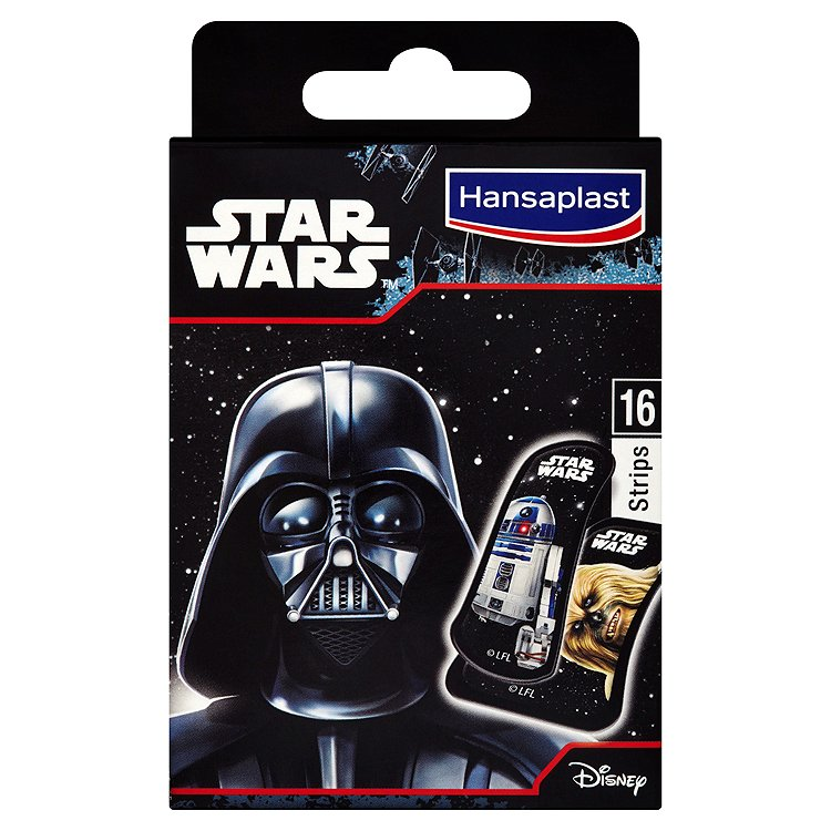 Hansaplast Star Wars dětské náplasti 16 ks