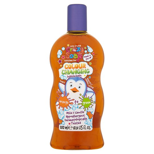 Fotografie Crazy Soap Colour Changing pěna do koupele s měnící barvami Orange to Green 300 ml