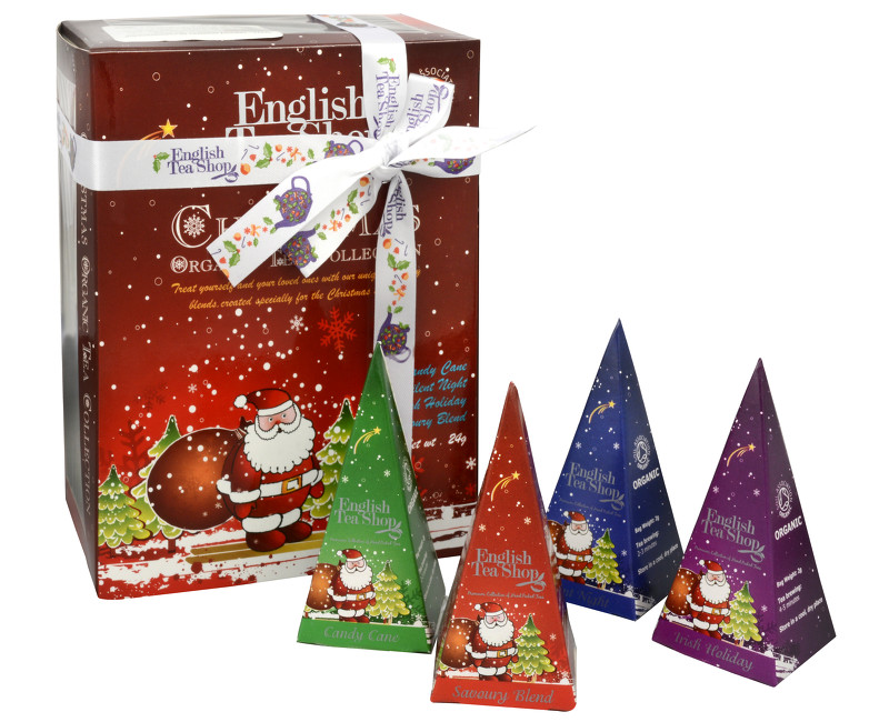 Dárková kolekce 12 pyramidek Červený Santa 4 příchutě