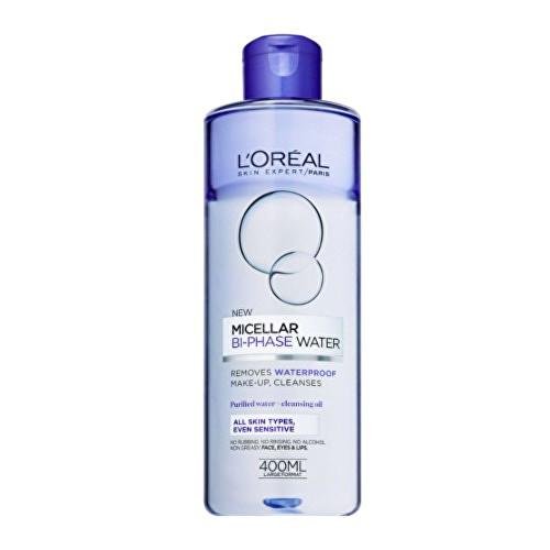 L'Oréal Paris Skin Expert dvoufázová micelární voda pro všechny typy pleti včetně citlivé 400 ml