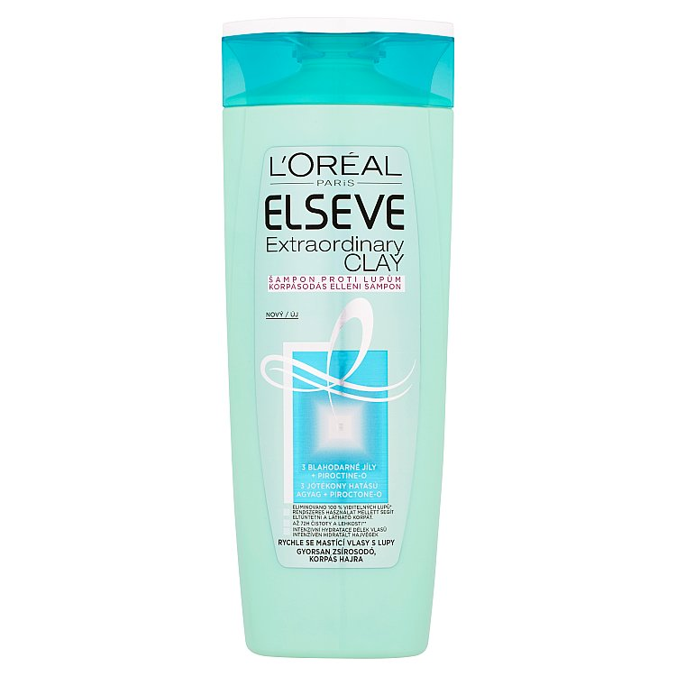 L'Oréal Paris Elseve Extraordinary Clay šampon proti lupům 400 ml