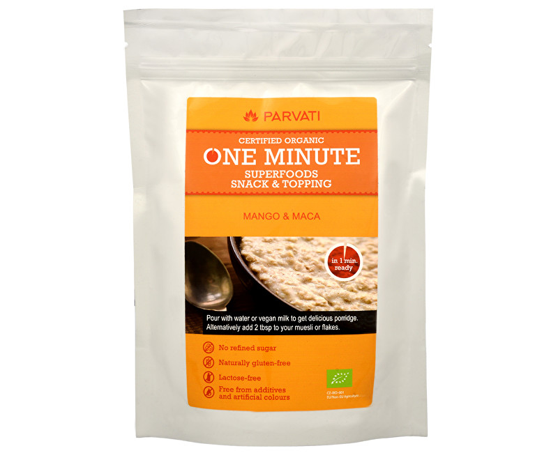 Fotografie One Minute SUPERFOODS snack & topping MANGO A MACA 300 g