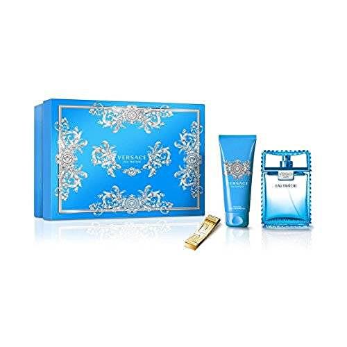 Versace Eau Fraiche Man - EDT + sprchový gel + klip na bankovky 50 ml + 50 ml