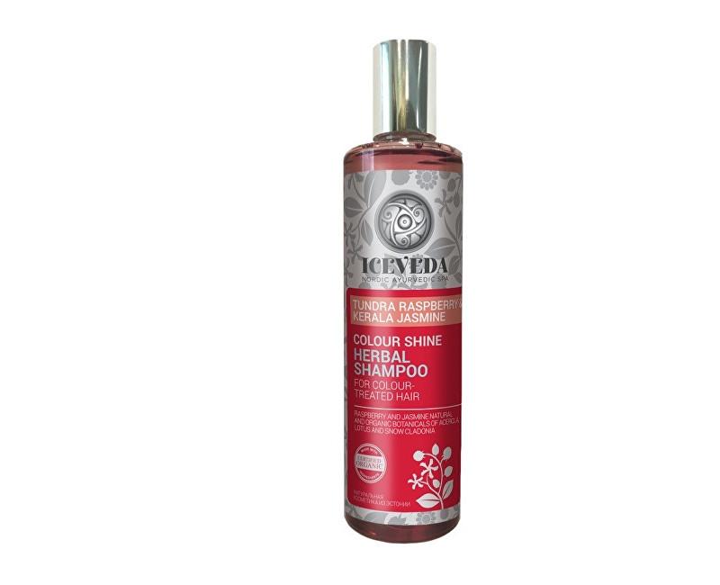 Iceveda Bylinný šampon Zářivá barva s malinami z tundry a jasmínem 280 ml