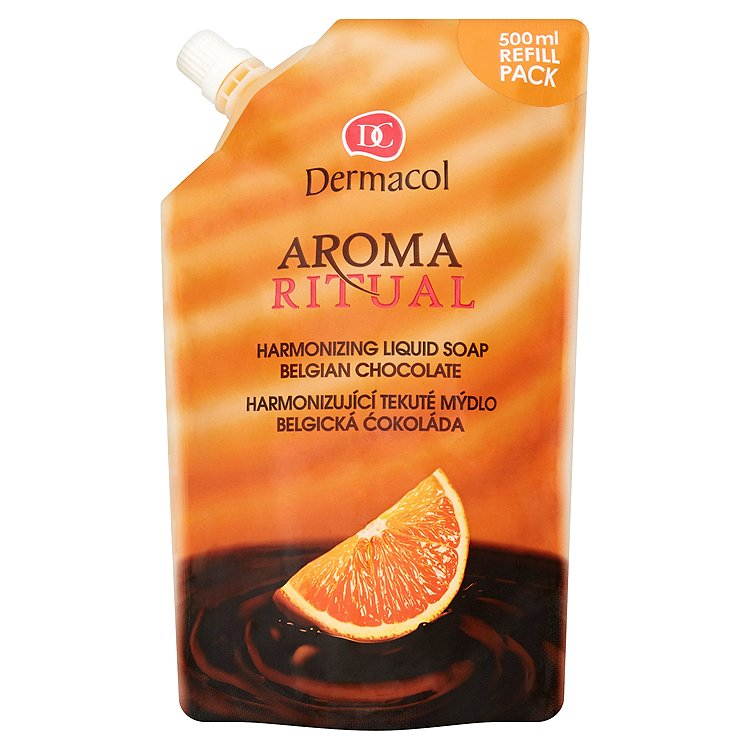 Fotografie Dermacol Harmonizující tekuté mýdlo Belgická Čokoláda s Pomerančem Aroma Ritual (Harmonizing Liquid