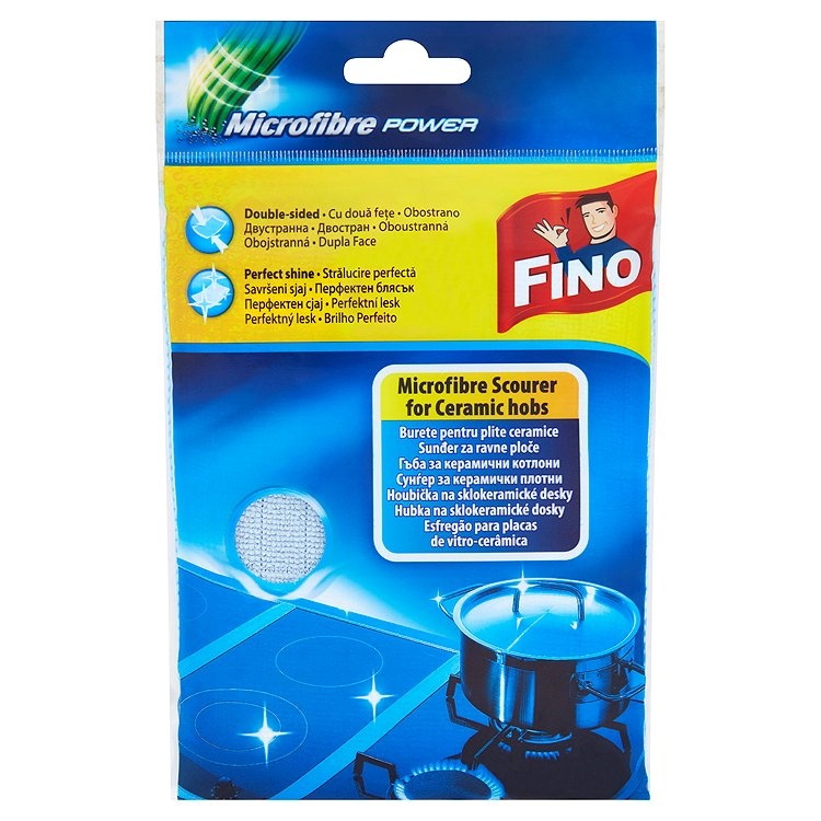 Fotografie Fino Microfibre Power Houbička na sklokeramické desky 1 kus
