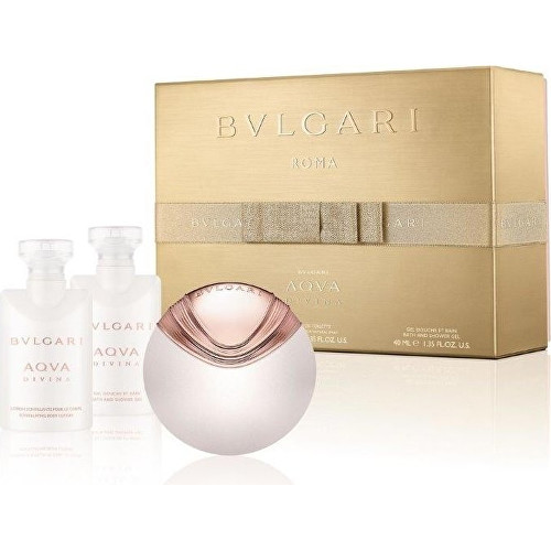 Bvlgari Aqva Divina - EDT + tělové mléko + sprchový gel 40 ml + 40 ml + 40 ml