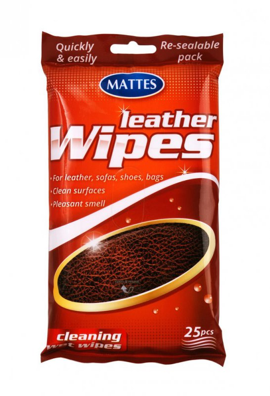 Mattes vlhčené ubrousky na kůži 25 ks