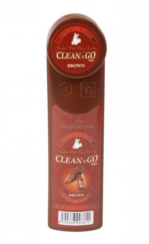 Fotografie Clean&Go lesk na obuv hnědý 75 ml