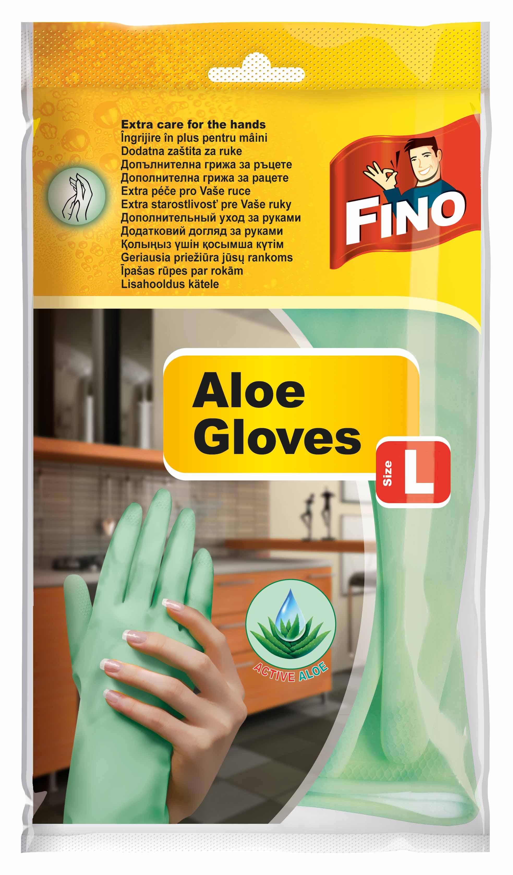 Fotografie Fino rukavice s Aloe vera L 1 pár