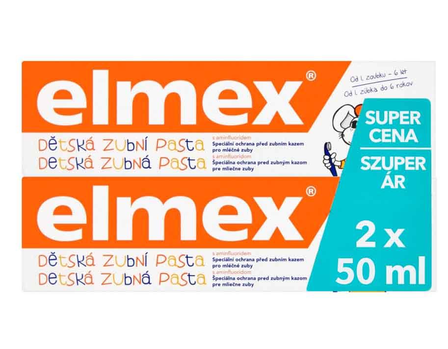 Fotografie Elmex Kids zubní pasta 2 x 50 ml