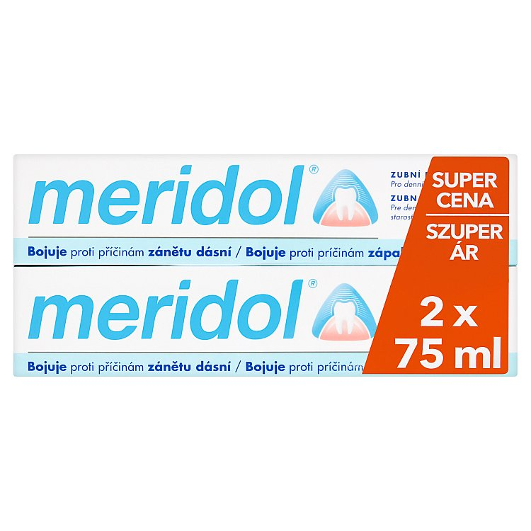 Meridol zubní pasta 2 x 75 ml