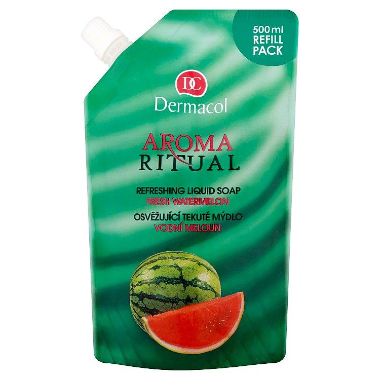 Dermacol Aroma Ritual osvěžující tekuté mýdlo vodní meloun náhradní náplň 500 ml