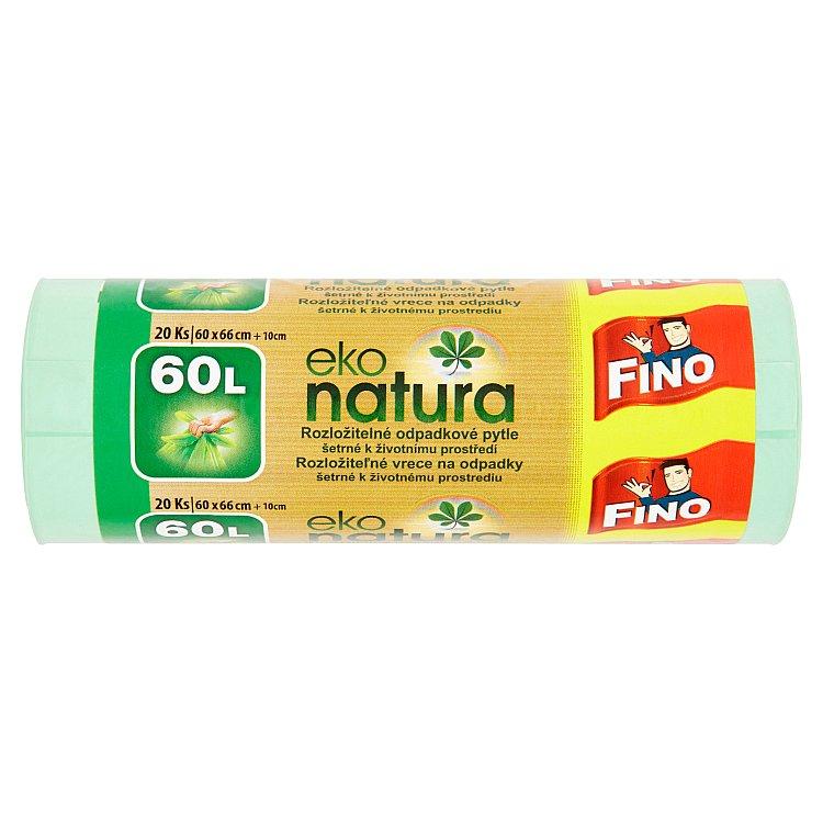 Fino Eko natura rozložitelné pytle na odpadky, 60 l 20 ks