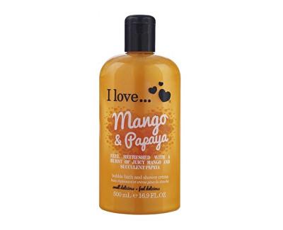 I Love Mango & Papaya koupelový a sprchový krém s vůní manga a papáji 500 ml