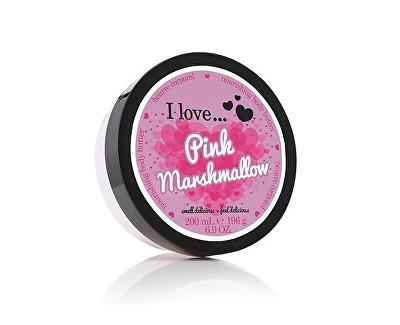 I Love Pink Marshmallow vyživující tělové máslo s vůní růžového marshmalow 200 ml