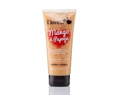 I Love Mango & Papaya přírodní sprchový peeling s vůní manga a papáji 200 ml