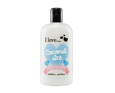 I Love Coconut Ice koupelový a sprchový krém s vůní kokosu 500 ml