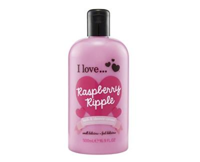 I Love Raspberry Ripple koupelový a sprchový krém s vůní malin 500 ml