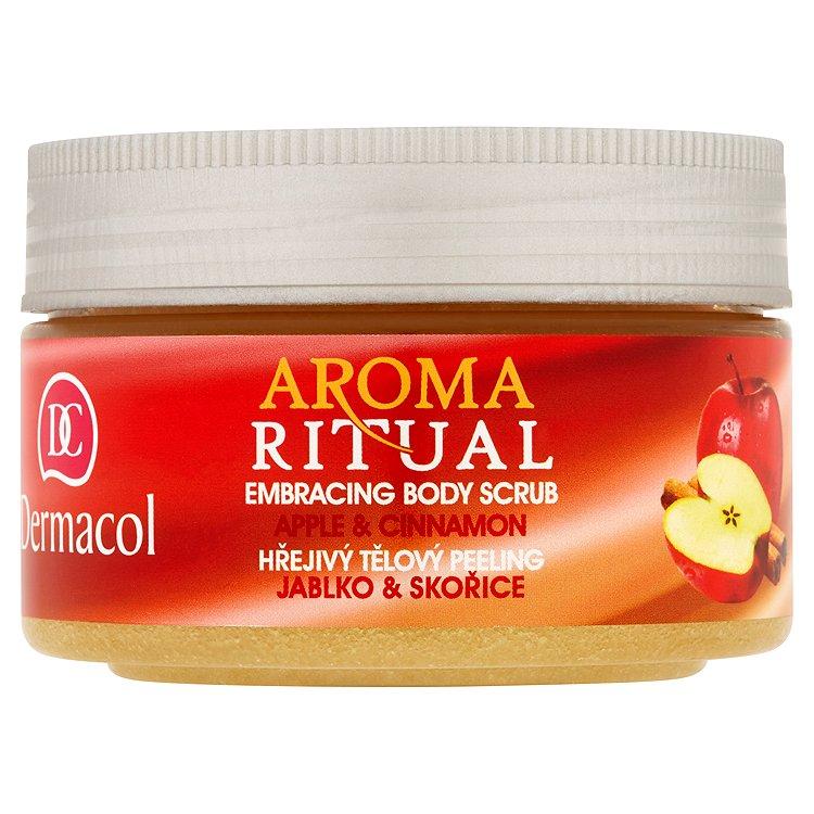 Dermacol Aroma Ritual hřejivý tělový peeling jablko a skořice 200 g