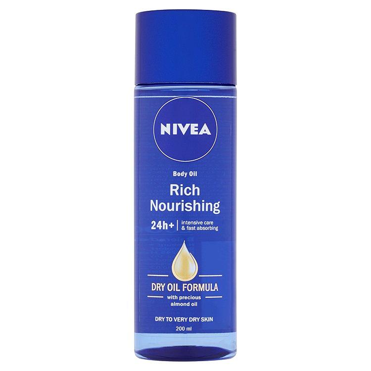 Fotografie Nivea Tělový výživný olej Body Oil 200 ml