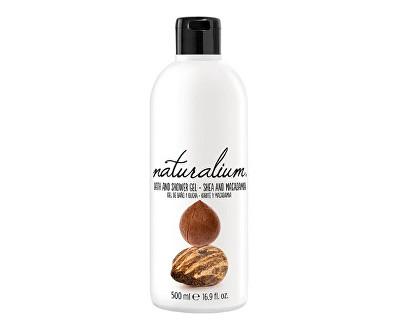 Fotografie Naturalium Shea And Macadamia regenerační koupelový a sprchový gel s bambuckým máslem a makadamiovým olejem 500 ml