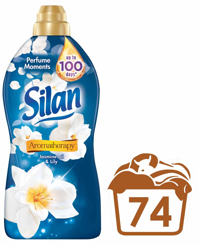 Silan Aromatherapy Jasmine Oil & Lily aviváž, 74 praní 1850 ml
