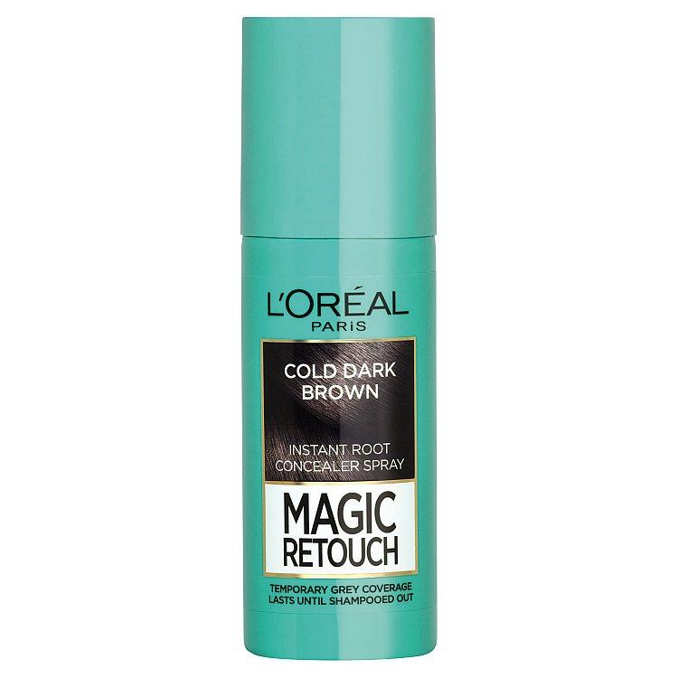 L'Oréal Paris Magic Retouch sprej pro okamžité zakrytí odrostů černohnědá, 75 ml