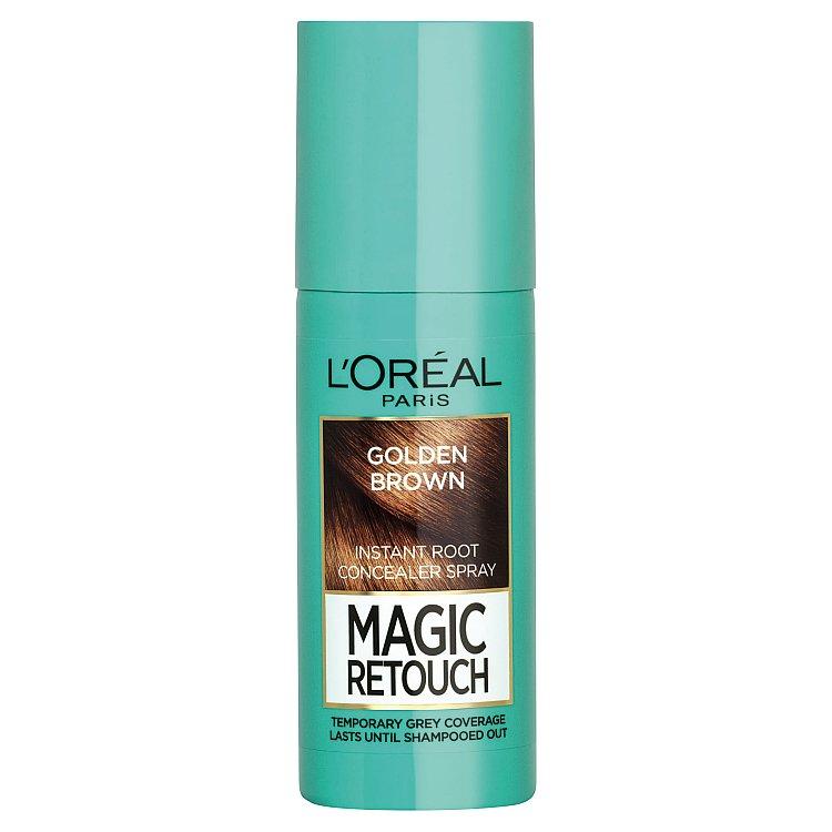 L'Oréal Paris Magic Retouch sprej pro okamžité zakrytí odrostů oříškově hnědá, 75 ml