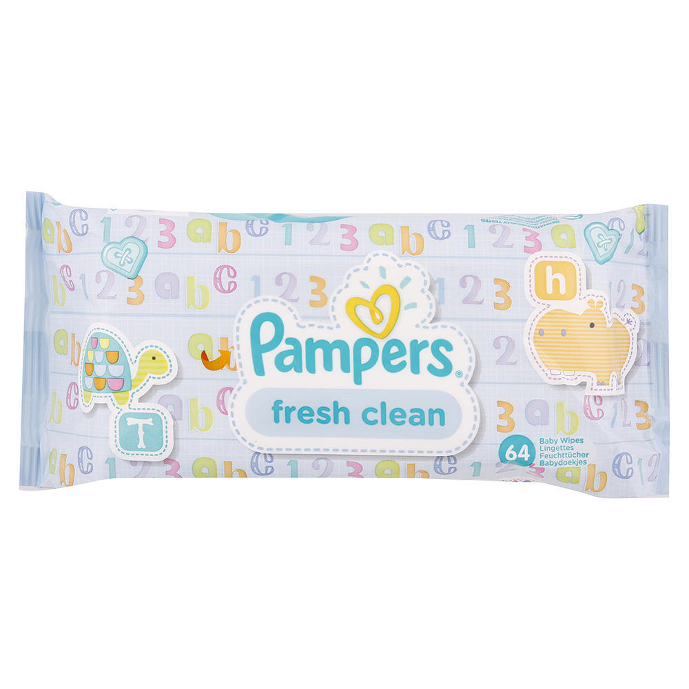 Pampers Fresh Clean ubrousky 64 ks