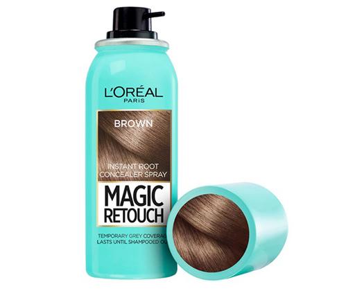L'Oréal Paris Magic Retouch sprej pro okamžité zakrytí odrostů Tmavá hnědá, 75 ml