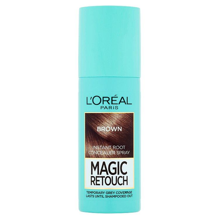 L'Oréal Paris Magic Retouch sprej pro okamžité zakrytí odrostů Světle hnědá, 75 ml