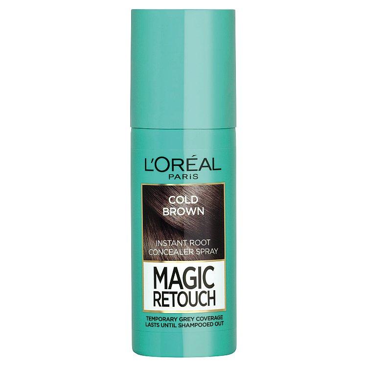 L'Oréal Paris Magic Retouch sprej pro okamžité zakrytí odrostů ledově hnědá, 75 ml