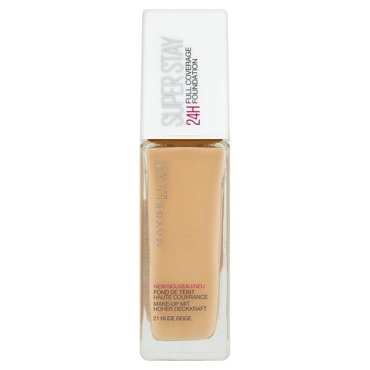 Maybelline Superstay Foundation 24 Hour krycí make-up 021 Nude Beige, 30 ml