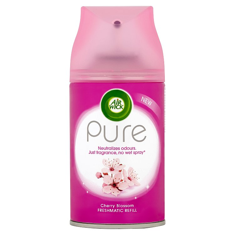 Fotografie Air Wick FreshMatic Pure Květy třešní osvěžovač vzduchu náhradní náplň 250 ml