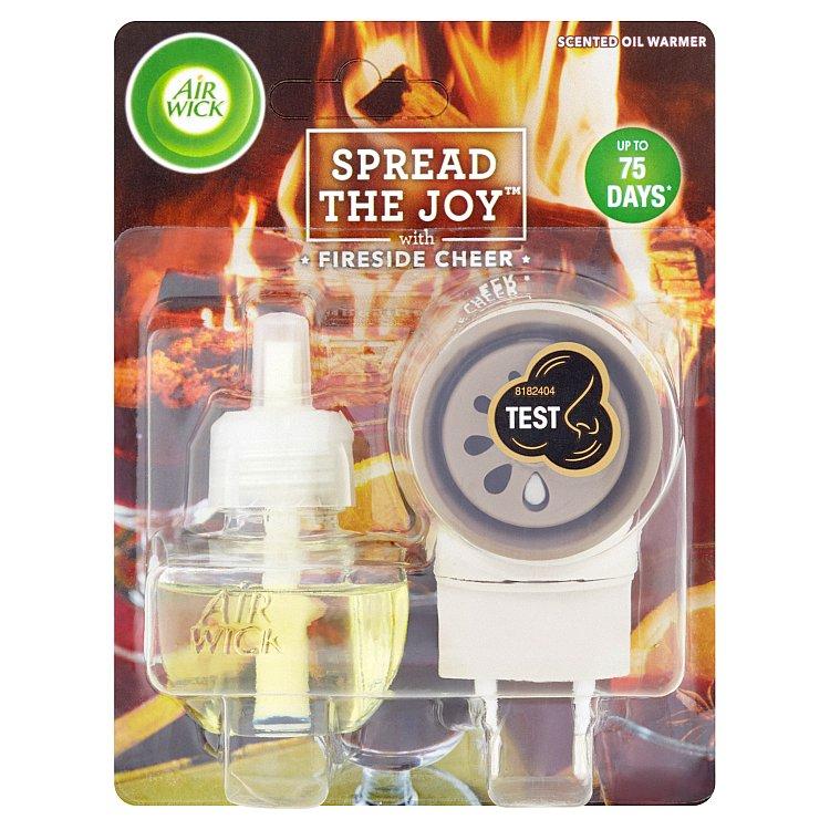 Air Wick elektrický osvěžovač vzduchu s náplní pohodlí u krbu 19 ml