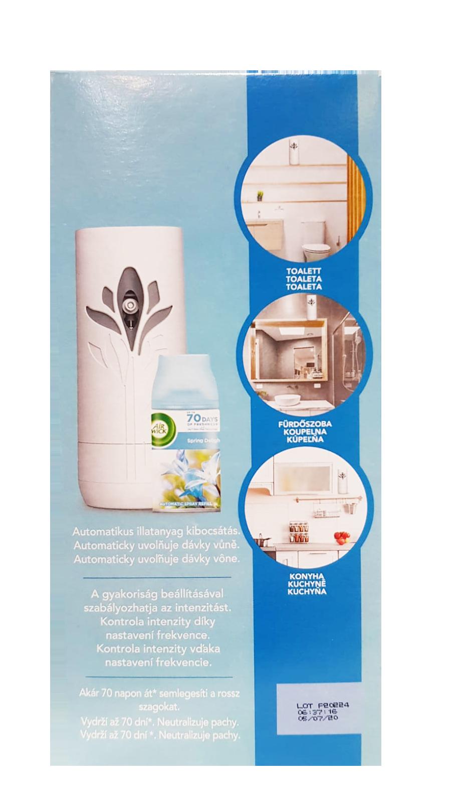 Air Wick Freshmatic Pure difuzér a náplň do osvěžovače vzduchu svěží vánek 1 ks + 250 ml