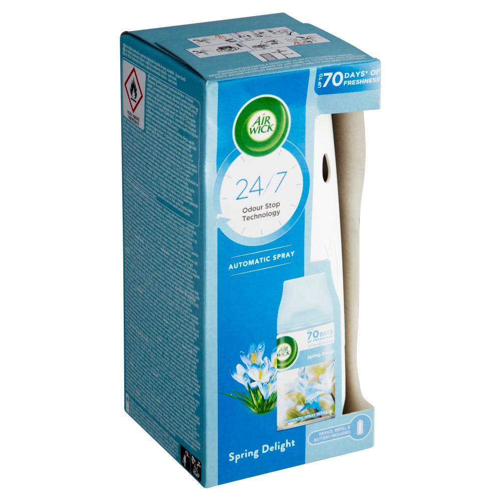 Air Wick Freshmatic difuzér a náplň do osvěžovače vzduchu jarní vánek 1 ks + 250 ml