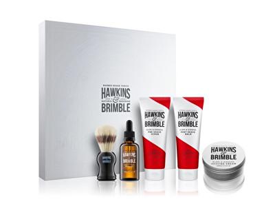Hawkins & Brimble dárková sada pleťové péče pro muže s vůní elemi a ženšenu 5 ks