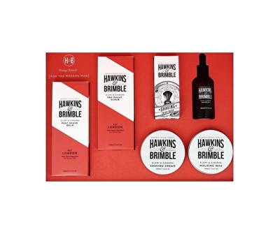Hawkins & Brimble dárková sada pleťové péče pro muže s vůní elemi a ženšenu 6 ks