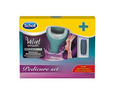 Scholl Velvet Smooth Pro Dárková sada Elektrický pilník na chodidla do vody + náhradní hlavice