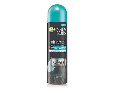 Garnier Men Mineral antibakteriální antiperspirant ve spreji pro muže 150 ml